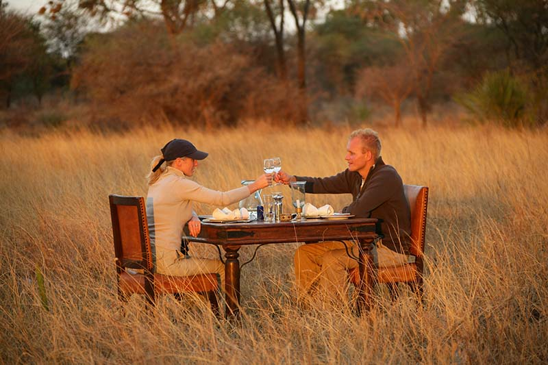Dinner In The Wild During An African Safari