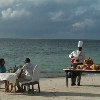 Beach Dinner During An African Safari