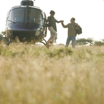 Private Helicopter During An African Safari