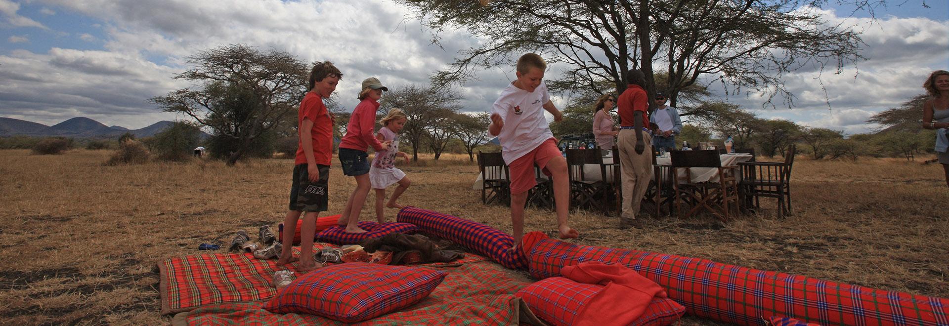 Children On An African Safari