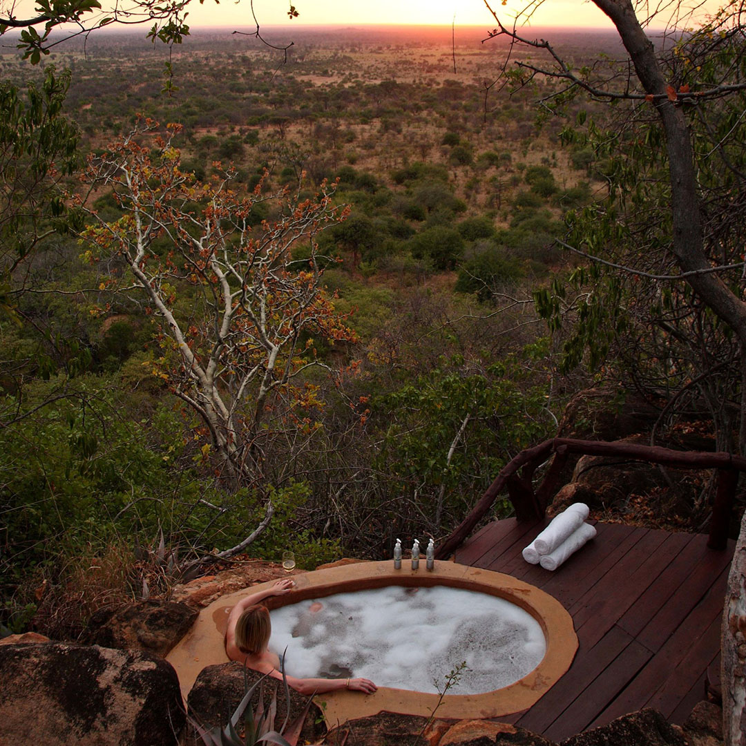 Jacuzi in the wild, Kenya