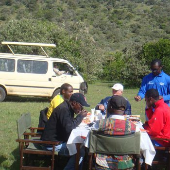 African Group Lunch In The Wild